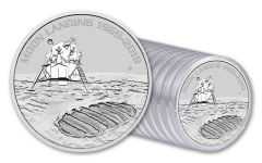2019 Australia $1 1-oz Silver Moon Landing Apollo 11 50th Anniversary Uncirculated 20-Piece Roll
