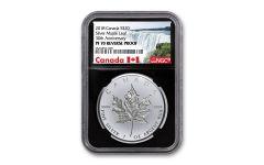 2018 Canada $20 1-oz Silver Maple Leaf Incuse Reverse Proof NGC PF70 - Black Core, Canada Label