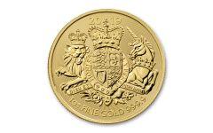 2019 Great Britain £100 1-oz Gold Royal Arms BU