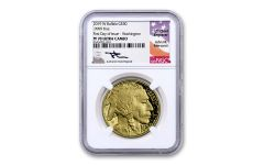 2019-W $50 1-oz Gold Buffalo NGC PF70UC First Day of Issue - Washington D.C. Mercanti Signed Label