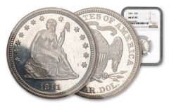1891-P Silver Seated Liberty Quarter NGC MS65 PL