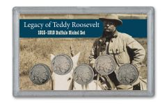 1915-1919 Buffalo Nickel Legacy of Teddy Roosevelt 5-pc Set