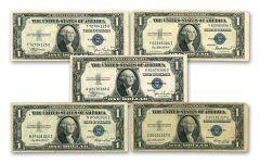 1935 $1 Silver Certificate 5-Pack VF