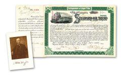 1890s Standard Oil Trust Paper Stock Certificate