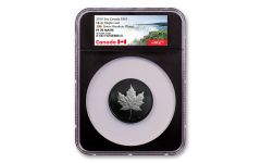 2019 Canada $10 2-oz Silver Maple Leaf Black Proof NGC PF70 Matte - Black Core