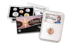 2019-S U.S. Silver Proof Set w/2019-W Reverse Proof Lincoln Cent NGC Gem Proof First Releases & Lincoln Label