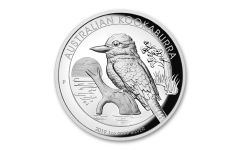 2019 Australia $1 1-oz Silver Kookaburra High Relief Proof