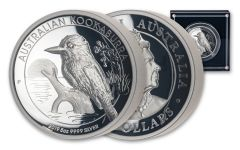 2019 Australia $8 5-oz Silver Kookaburra High Relief Proof