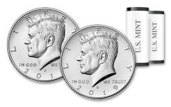 2019-P-D Kennedy Half Dollar 2-Piece Roll Set