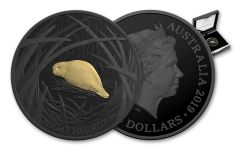 2019 $5 1-oz Silver Australia Echoes of Australian Fauna Night Parrot Nickel-Plated Proof