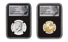 2019 U.S. Mint Rocketship™ 2-pc Set NGC Gem Unc & PF70UC w/Black Core & Moonprint Label