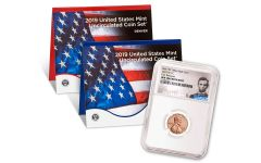 2019-P-D Unite States Mint Set + 2019-W Lincoln Cent NGC Gem Uncirculated First Releases - Lincoln Label