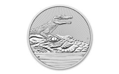 2019 Australia $2 2-oz Silver Mother & Baby Crocodile Piedfort BU