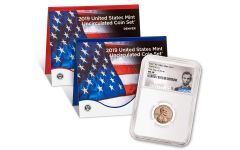 2019-P&D U.S. Mint Set w/2019-W Lincoln Cent NGC MS68 First Day of Issue