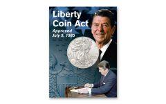 2019 1 Dollar 1-oz American Silver Eagle BU Reagan Card