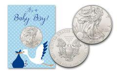 2019 1 Dollar 1-oz American Silver Eagle BU Baby Boy Card