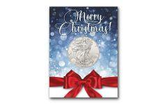 2019 1 Dollar 1-oz American Silver Eagle BU Merry Christmas Card