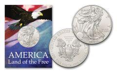 2019 1 Dollar 1-oz American Silver Eagle BU Land of the Free Card