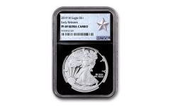 2019-W $1 1-oz  American Silver Eagle NGC PF69UC Early Releases - Black Core & Silver Star Label
