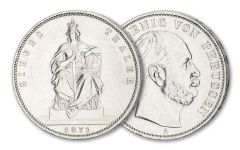 1871 Prussia 1 Thaler Silver Circulated