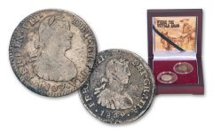 1772–1821 Spain Silver Reales of the Old West 2-Coin Set