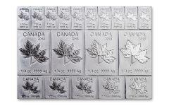 2018 Canada 2-oz Silver MapleFlex Multibar BU