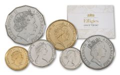 2019 Australia Effigies Over Time 6-Coin Set Uncirculated
