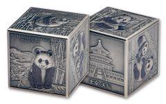 2019 China 1-Kilo Silver 150th Anniversary Panda Cube