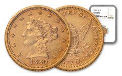 1880-P $2.50 Gold Liberty NGC MS60 PL
