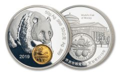 CHINA 2019 50G SILVER ANA SHOW PANDA PROOF