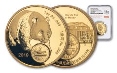 CHINA 2019 1OZ GLD ANA PANDA NGC GEM PRF FDI
