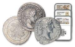 Ancient Rome 3-pc Legacy Set NGC VF-AU