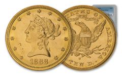 1888-S $10 Gold Liberty PCGS MS62