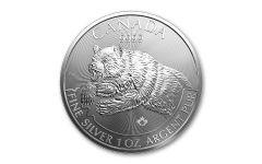 2019 Canada $5 1-oz Silver Predator Series Grizzly Bear BU
