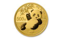 2020 China 30-gm Gold Panda Shenzhen Mint BU