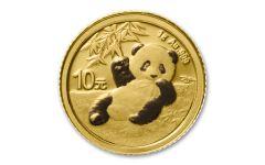 2020 China 1-gm Gold Panda Shenzhen Mint BU