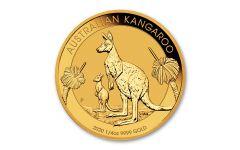 2020 Australia $25 1/4-oz Gold Kangaroo BU