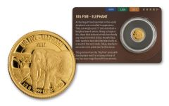 2016 Tanzania Half Gram Gold Big Five - Elephant Proof