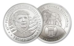 2017 10-Gram Silver Donald Trump Inaugural Proof