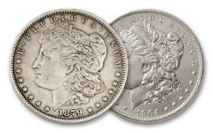 New Orleans Morgan Silver Dollar First and Last Set