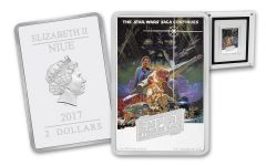 2017 Niue 1-oz Silver Empire Strikes Back Poster Bar