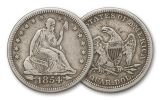 1838-1891 25 Cent Seated Liberty XF