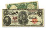 1907 5 Dollar Legal Tender Woodchopper Note