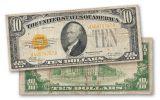 1928 10 Dollar Gold Certificate Note Fine