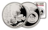 2013 5-oz Silver Panda Long Beach Proof NGC PF69