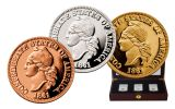 1861 Confederate Cent 3 Piece NGC Gem Proof Smithsonian Coin Classics