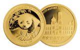 2015-2016 China Gold 1/10-oz Smithsonian Panda Sibling 2-Piece Set NGC PF70UC