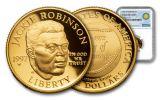 1997-W 5 Dollar 1/4-oz Gold Jackie Robinson Commemorative NGC PR69