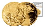 2016 FRANCE 1-OZ GOLD STATUE OF LIBERTY MEDAL NGC MS70