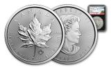 2017 Canada 5 Dollar 1-oz Silver Maple Leaf NGC MS69 Early Release - Black